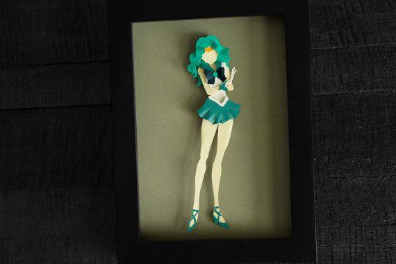 Sailor Neptune Sailor Moon Anime Shadow Box by EclecticElathera