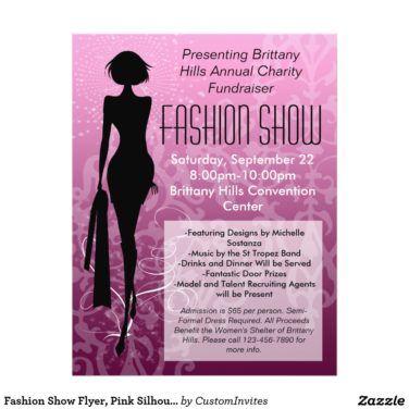 Fashion Show Flyer Template Fashion Show Invitation Fashion Silhouette Fashion Show Party