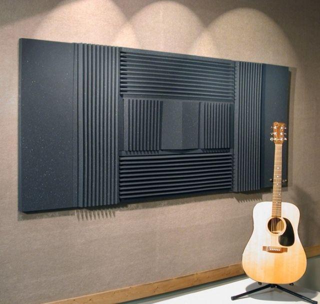 Schöne Wohnideen für Wände mit dekorativen Akustikplatten - schöne tapeten fürs wohnzimmer