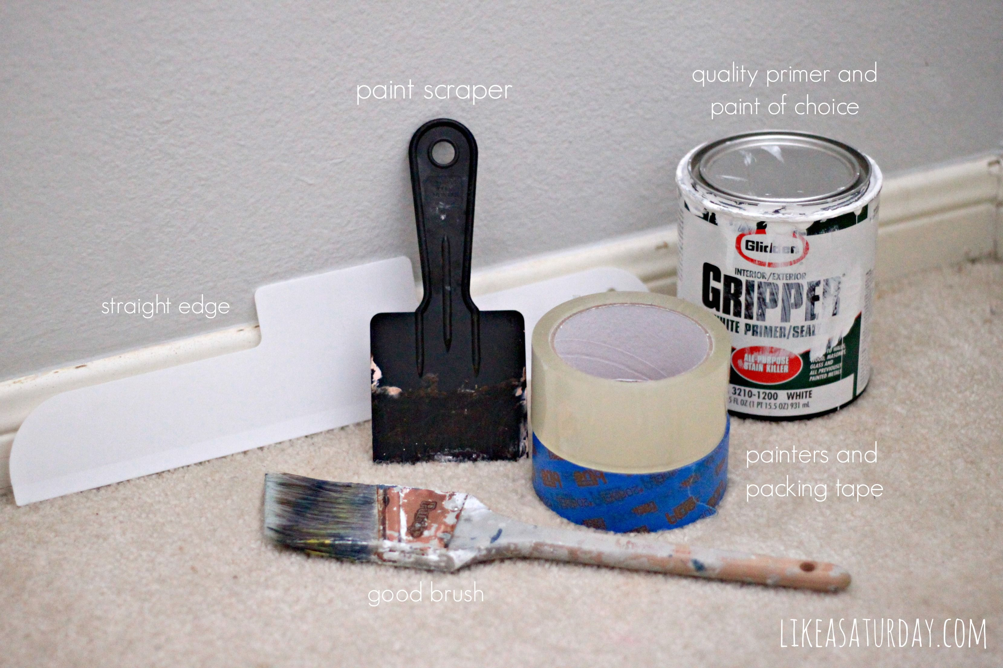 How To Paint Your Trim Tips For How To Paint Your Trim And Baseboards Easily Quickly And Wi Painting Trim How To Paint Trim With Carpet Painting Baseboards