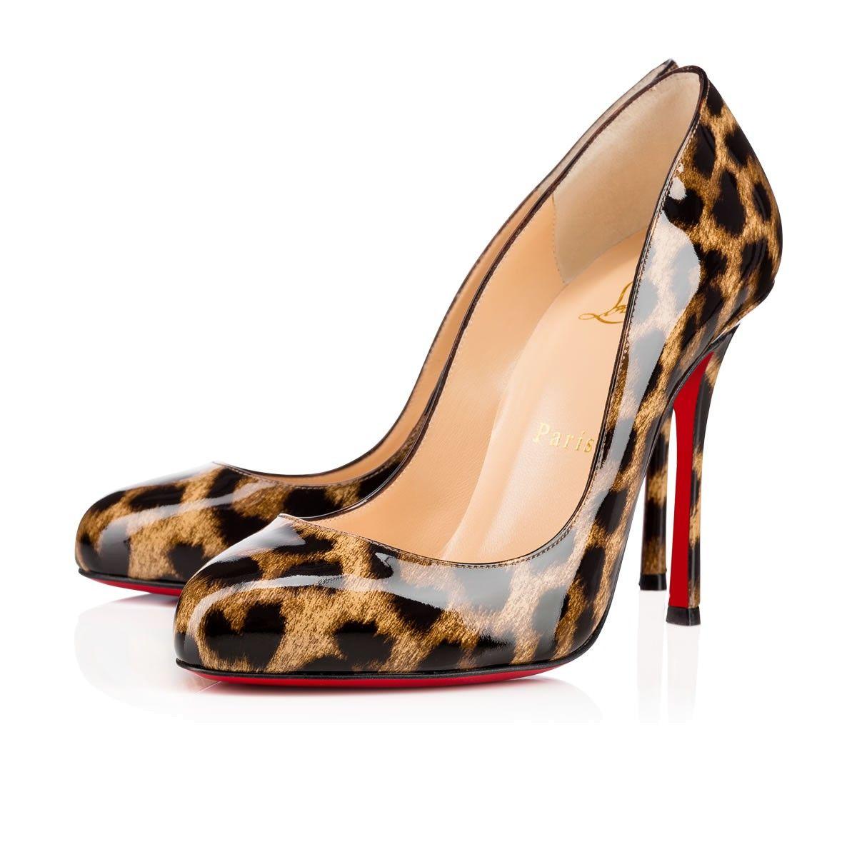 7a6c817f0be5 CHRISTIAN LOUBOUTIN Merci Allen 100 Brown Leopard Patent Leather - Women  Shoes - Christian Louboutin.