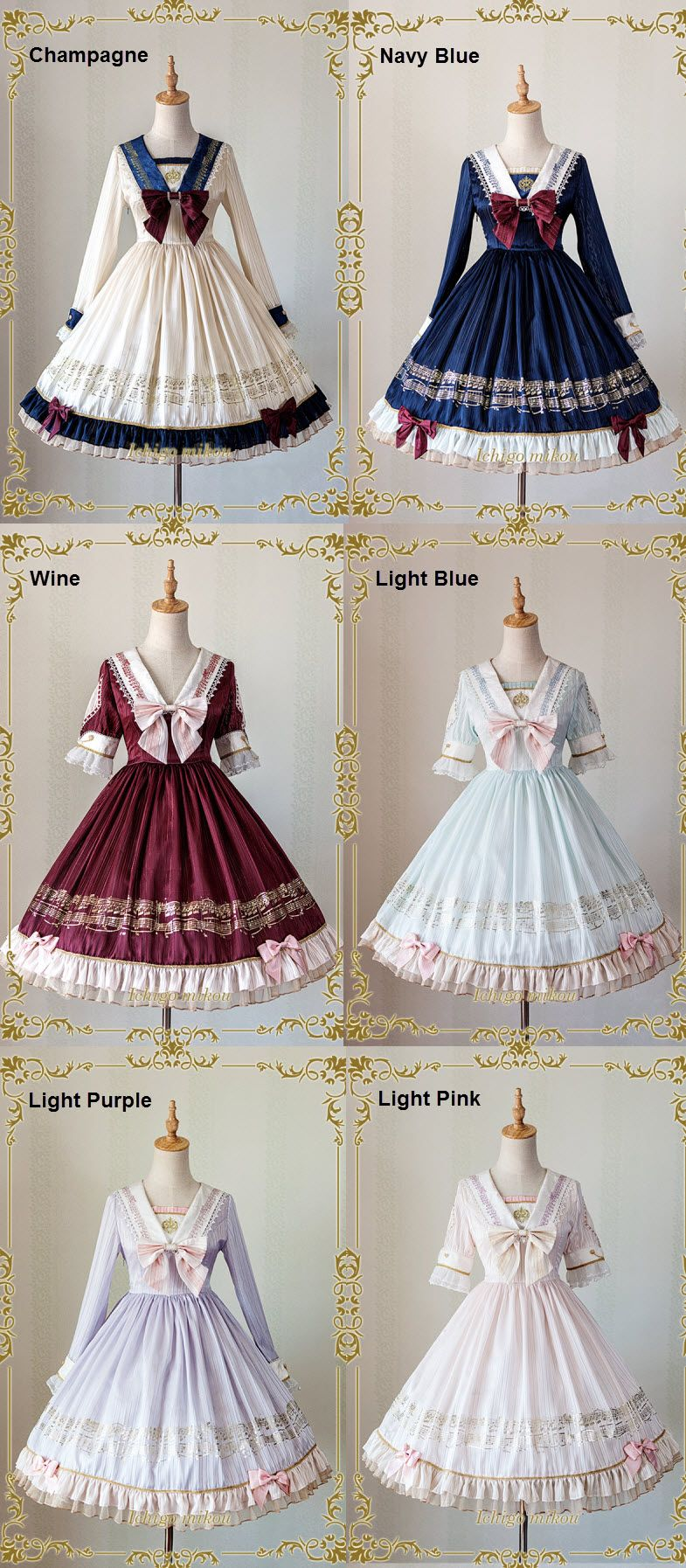 IchigoMiko -Ballad By The River Seine- Lolita Accessories