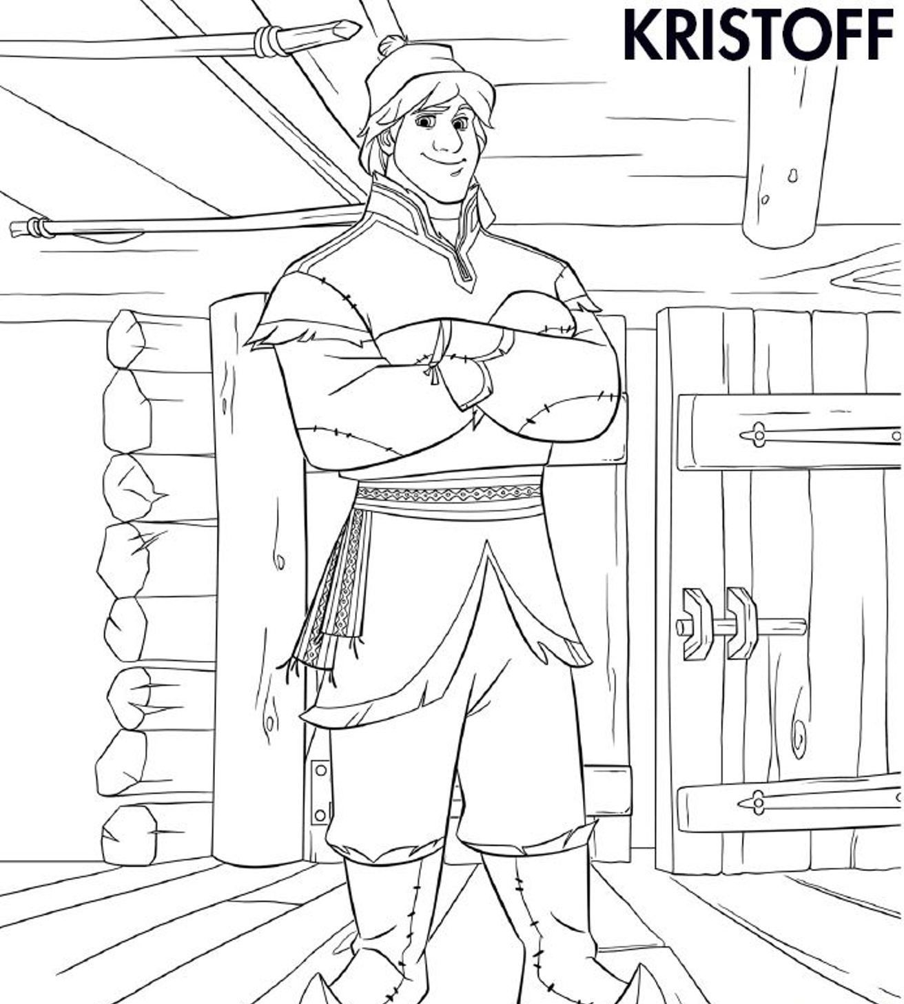 Kristoff Frozen Coloring Page | Printable - Frozen - Party for Kids ...