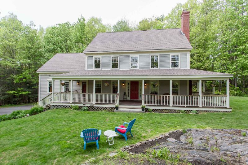 Garrison Colonial Style With Added Farmers Porch