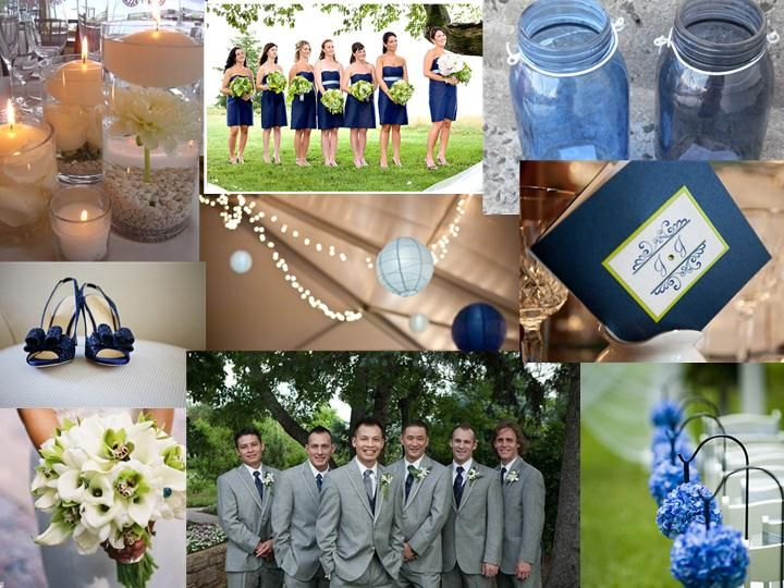 Navy Light Blue And Green Color Palette This Is Really Pretty Too Grey Wedding
