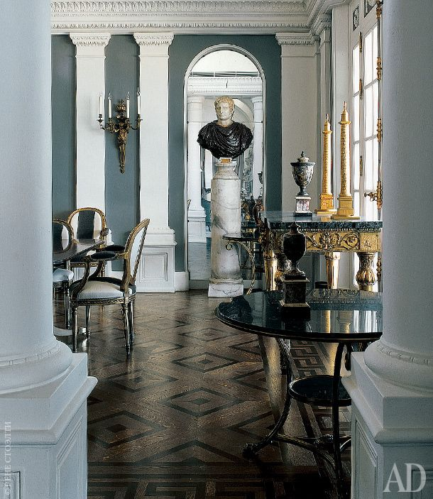 Via AD/RU--Frederic Meshishu designs neoclassical revival penthouse for Beirut executive- / View of dining room.