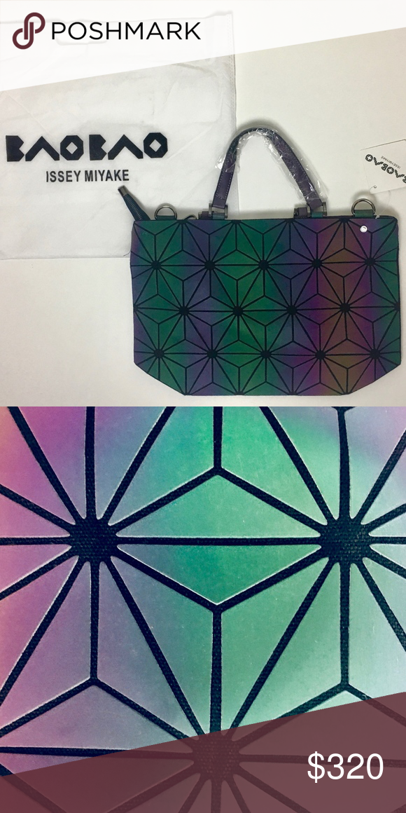 cea4991e92c7 Authentic Issey Miyake Baobao Prism Bag NWT Authentic Bao Bao with  iridescent geometric diamonds with adjustable