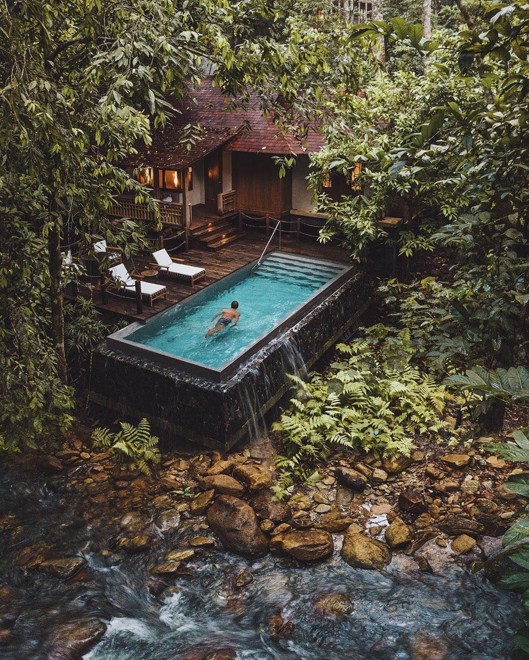 How About A Swim In Your Private Jungle Pool Thedatailangkawi Alexpreview Malaysia Malay Jungle House Pool Designs Architecture