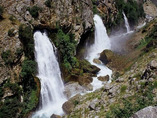 Waterfall in the mountains, Cappedocia