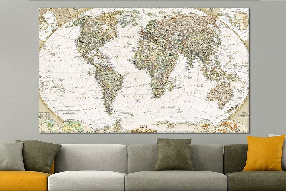 Pin by Canvas Print on Canvas Wall Art Print | Pinterest | Map ...