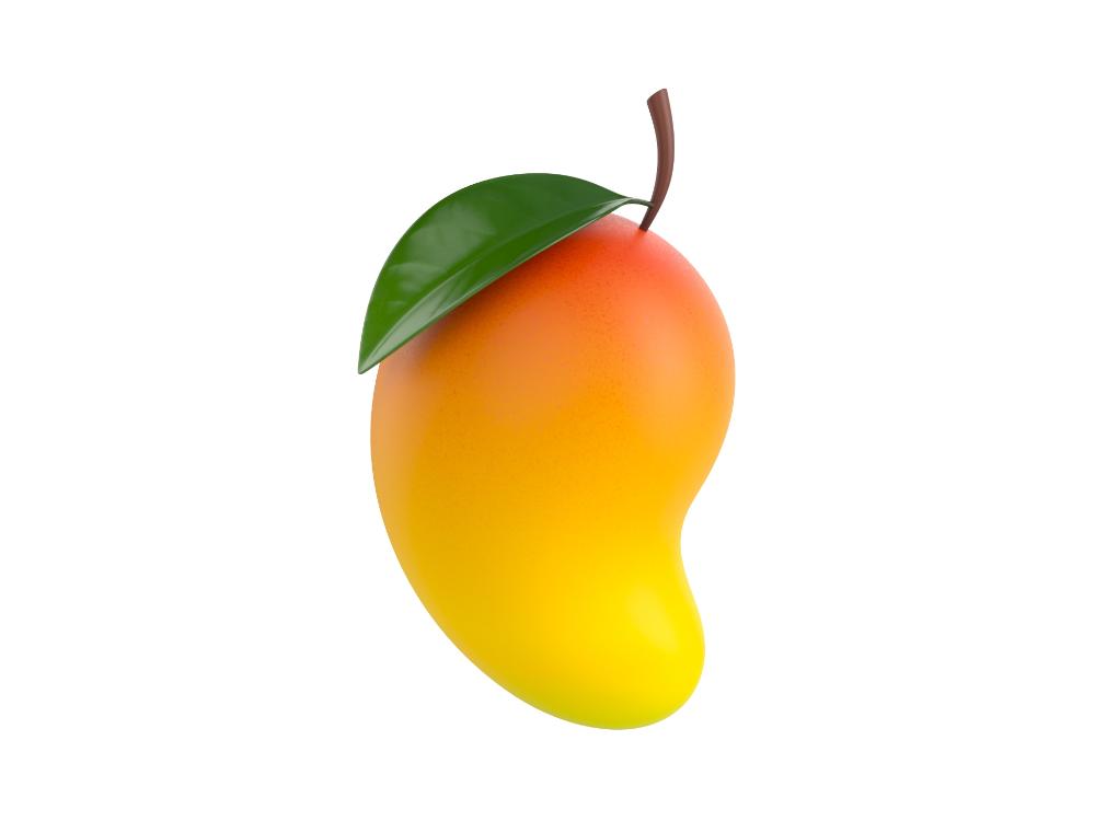 Mango Mango Fruit Cartoon Uv Mapping