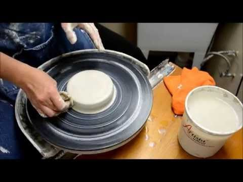 Centering Clay - a How to Pottery wheel Demo w/ safe hand motions - YouTube