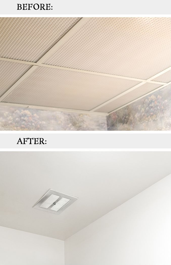 How To Remove Dated Drop Ceiling Tiles Home Improvement