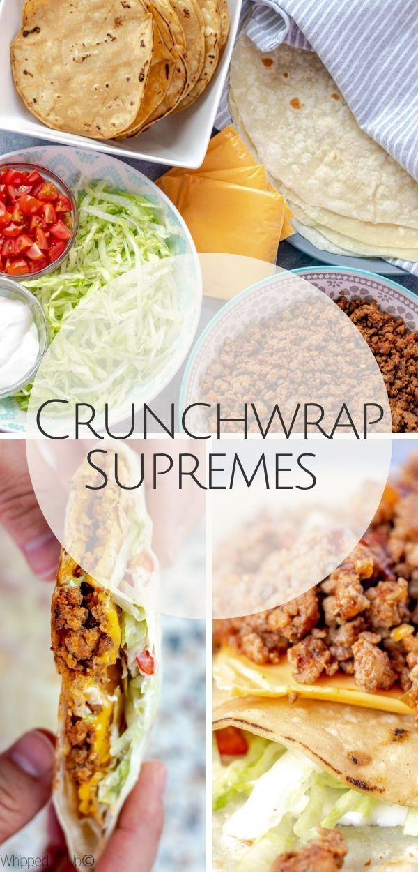 Get the full recipe at www.whippeditup.com  #crunchwrapsupreme #tacos #tacotuesday #mexican #homemadetakeout #eatrealfood #whippeditup #recipe #copycatrecipe