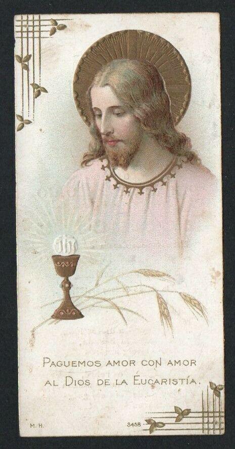 Holy card antique de Jesus santino image pieuse estampa andachtsbild