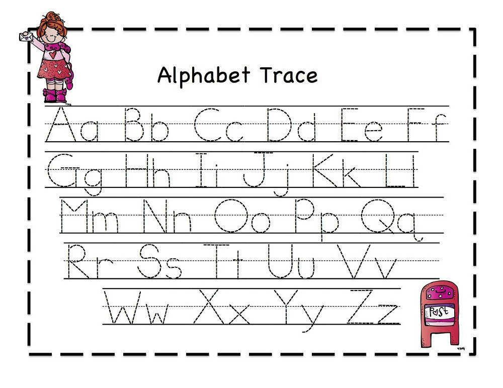 Traceable Letter Worksheets A Z Printable Pinterest Printable Alphabet Worksheets Alphabet Worksheets Free Alphabet Tracing