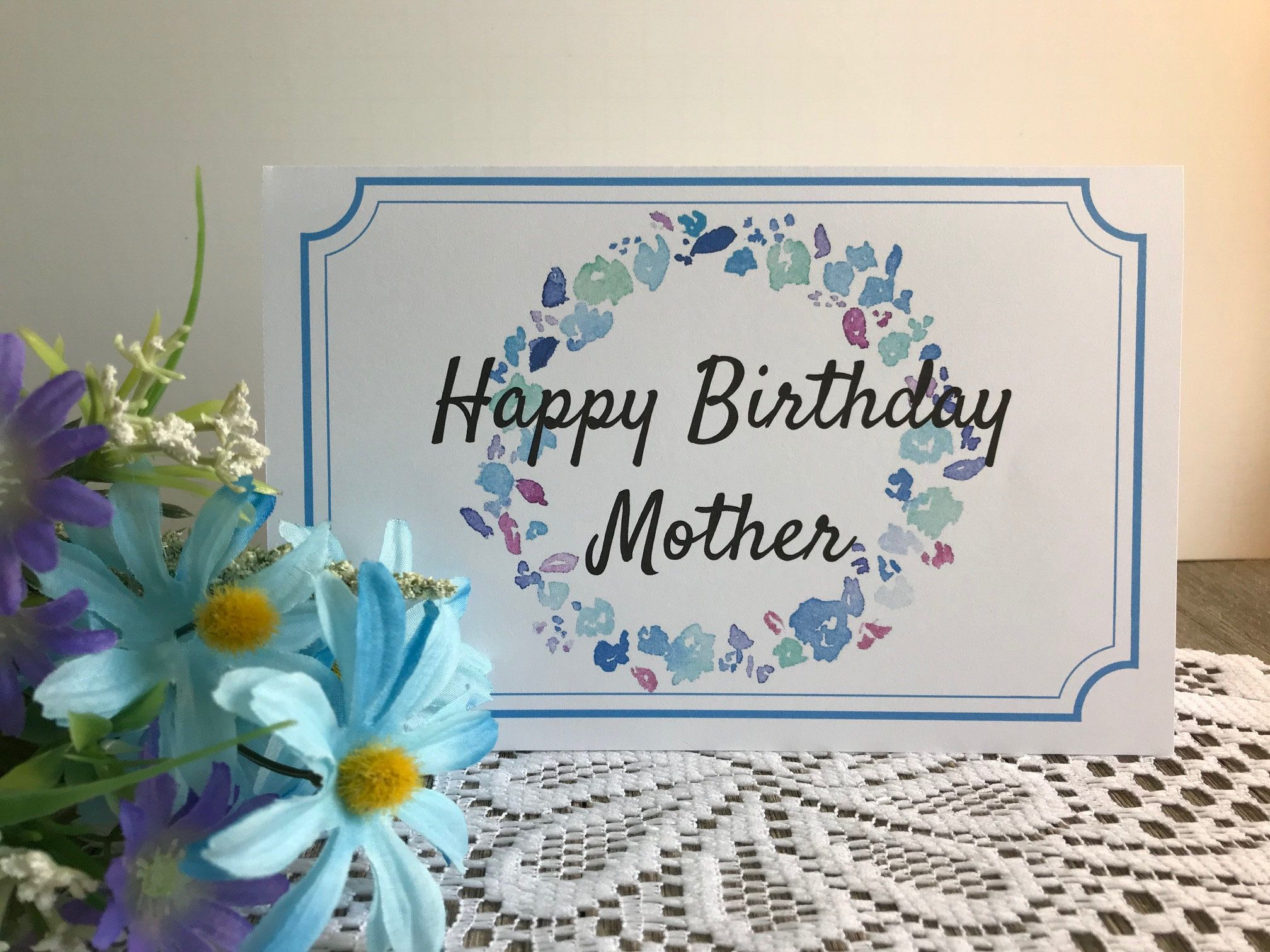 Printable Birthday Card for Mother Greeting Card for Great