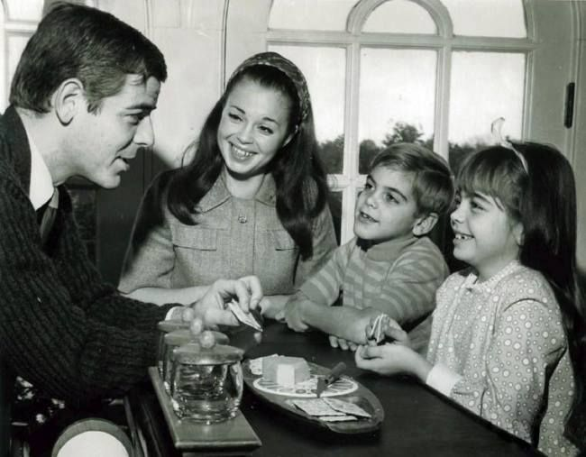 George Clooney and his family
