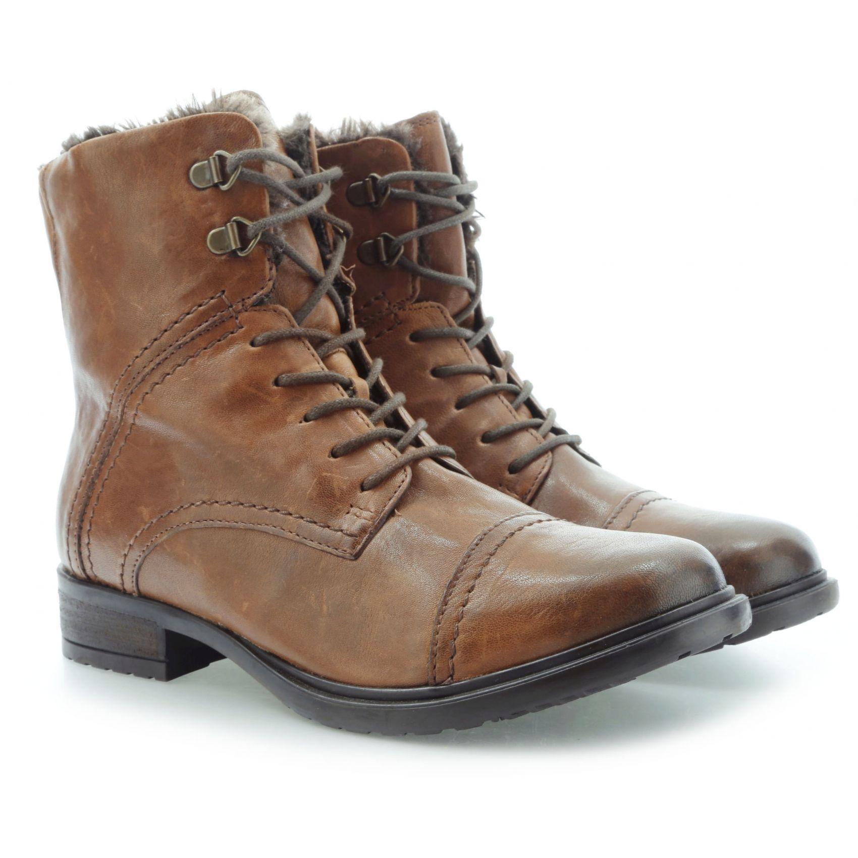 CLARKS MORTIMER LIZ TAN LEATHER 20351948 4D | Combat boots | Women shoes in  RiccardoFashion.