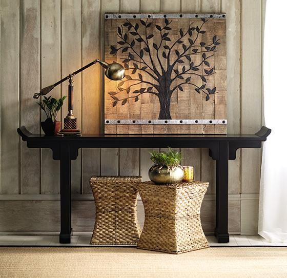 Mandarin altar table furniture living room entryway for Altar wall decoration