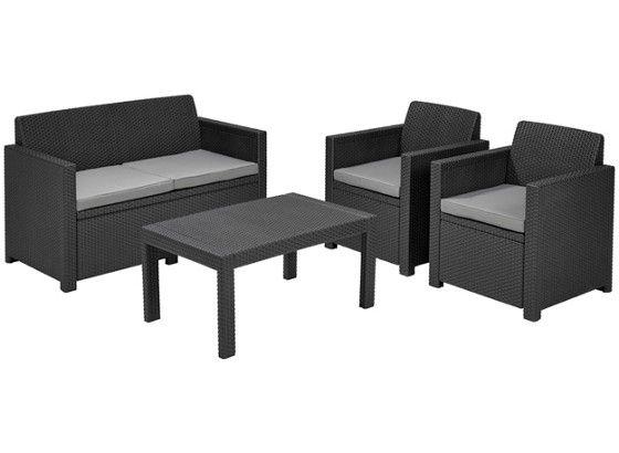 Gartenmöbel-Set Lounge Victoria 4-teilig, anthrazit | GARTEN ...