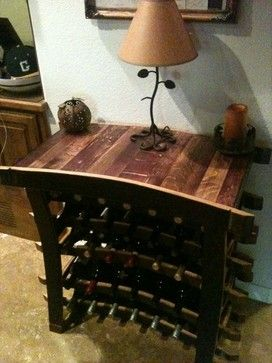 Wine Barrel Table Rack Furniture Orange County By Fallen Oak
