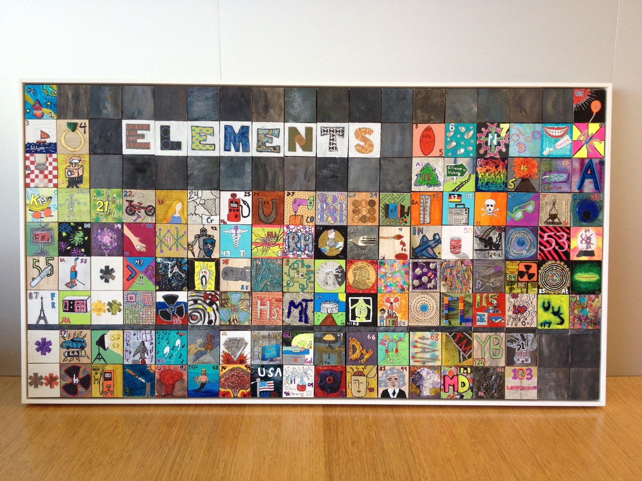Periodic Table Auction Project. Painted Wood Squares