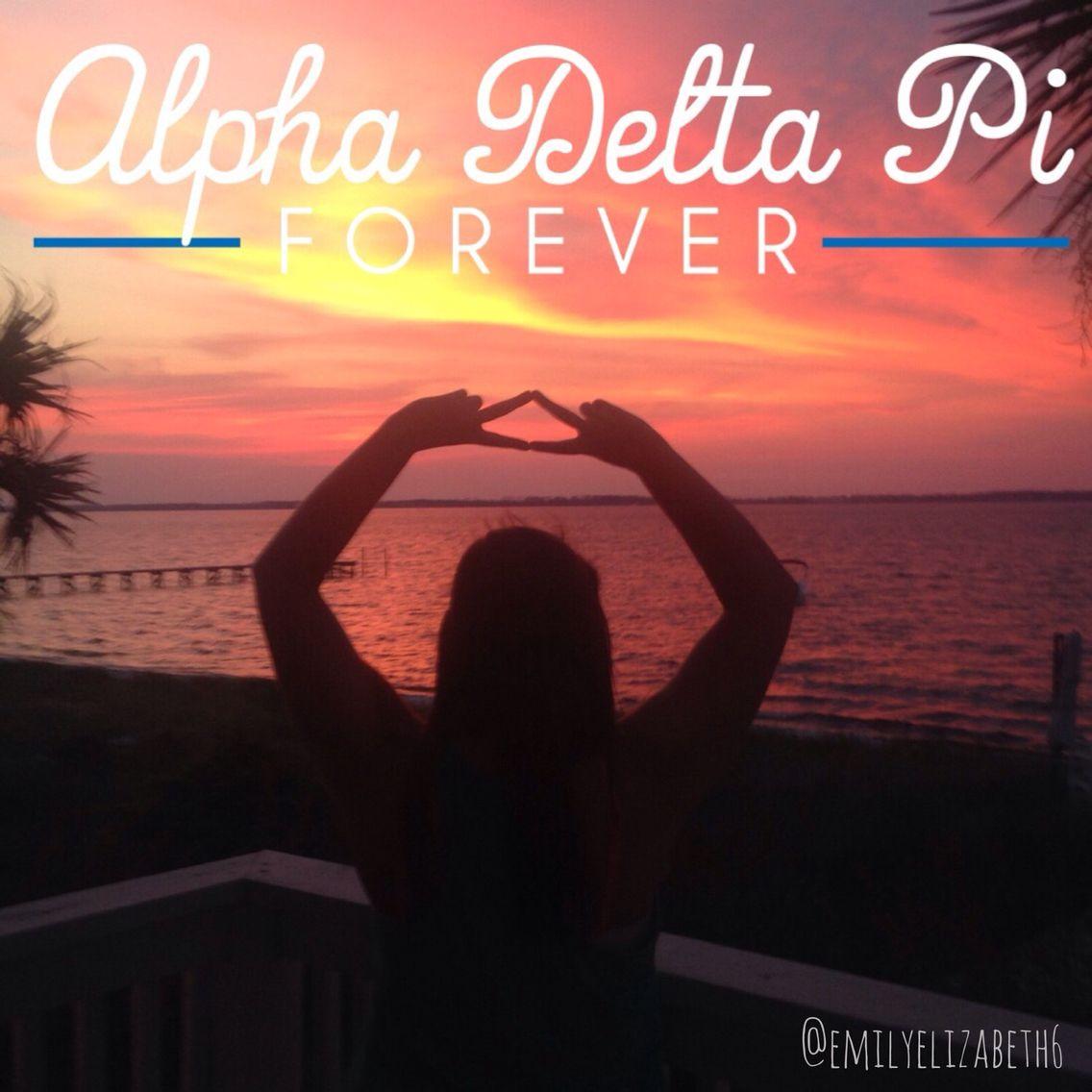Go Greek. Go Alpha Delta Pi.