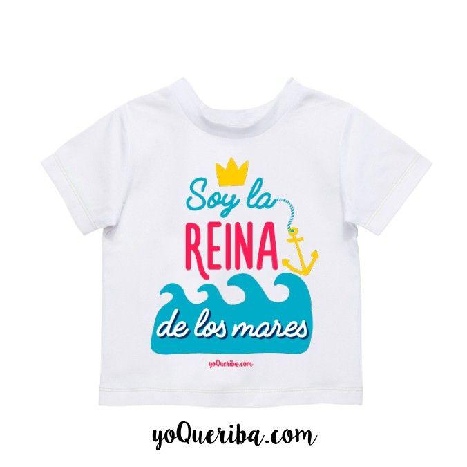 Camiseta Personalizada Bebés Soy La Reina De Los Mares