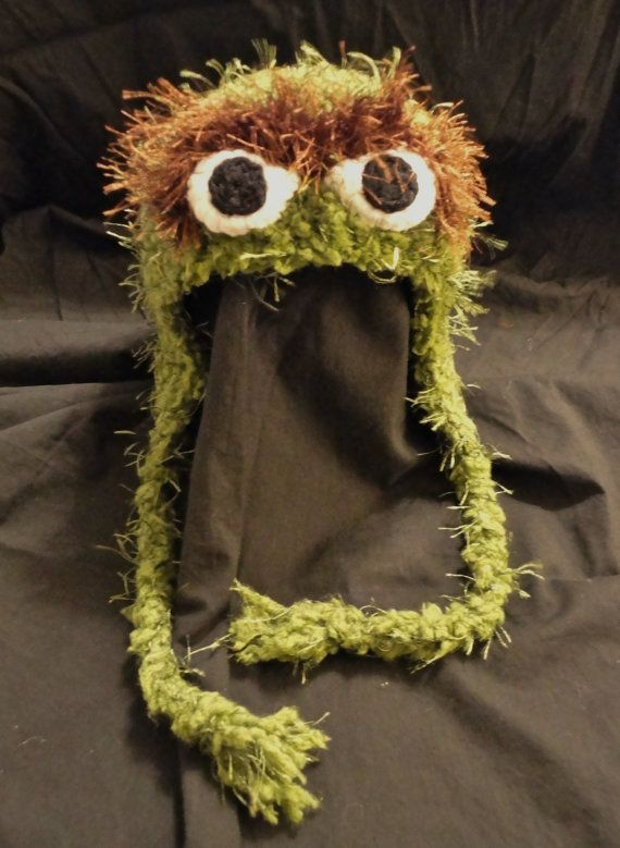 565fcc3b31d Crochet Oscar the Grouch Hat by ContrarywiseDesigns on Etsy - no pattern  (Found Caleb s hat for next winter!)