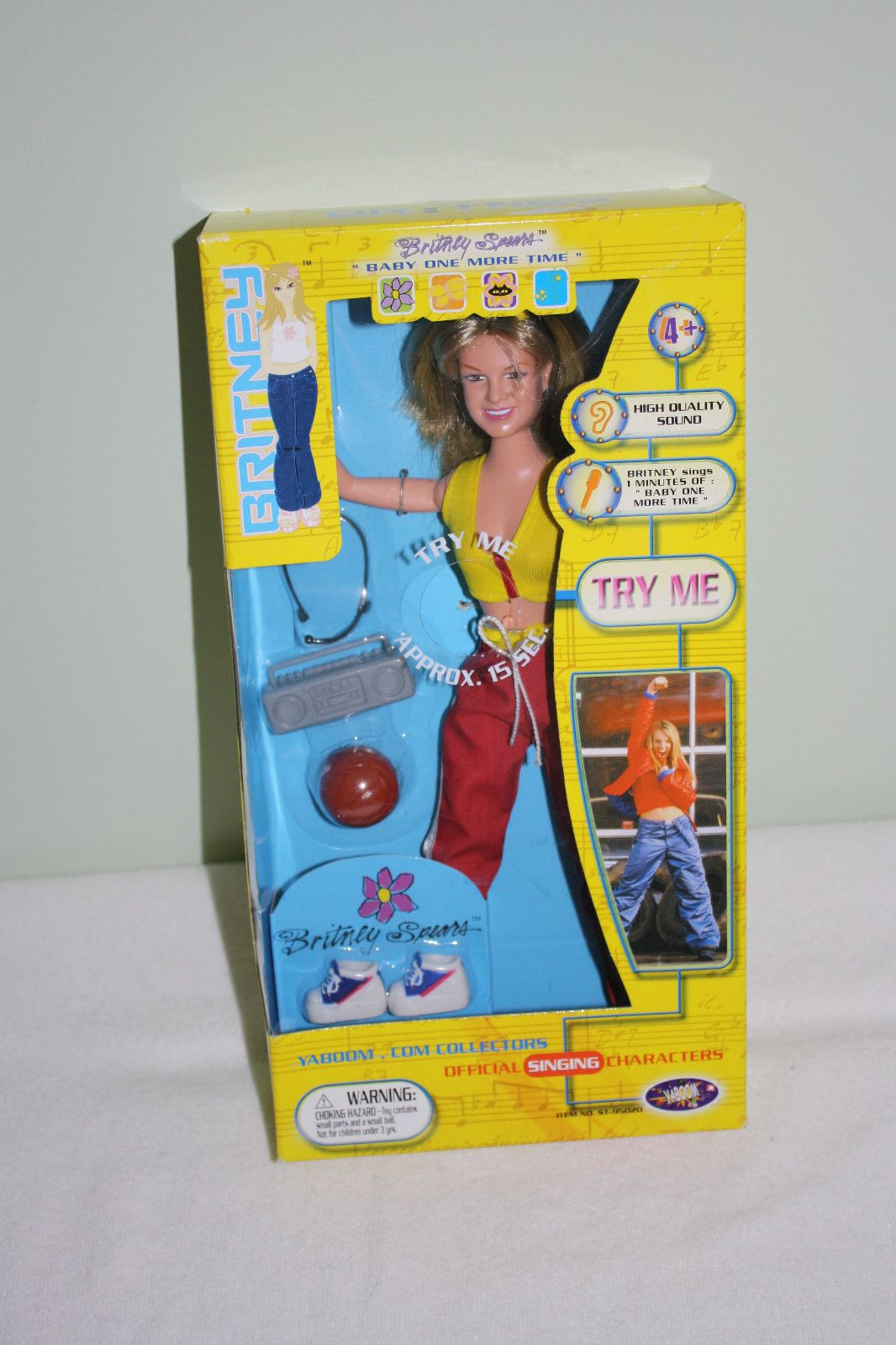 "RARE BRITNEY SPEARS ...BABY ONE MORE TIME 6/"" FASHION DOLLS by PLAY ALONG"