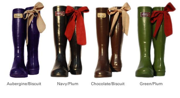 Rain Boots With Bows - Cr Boot