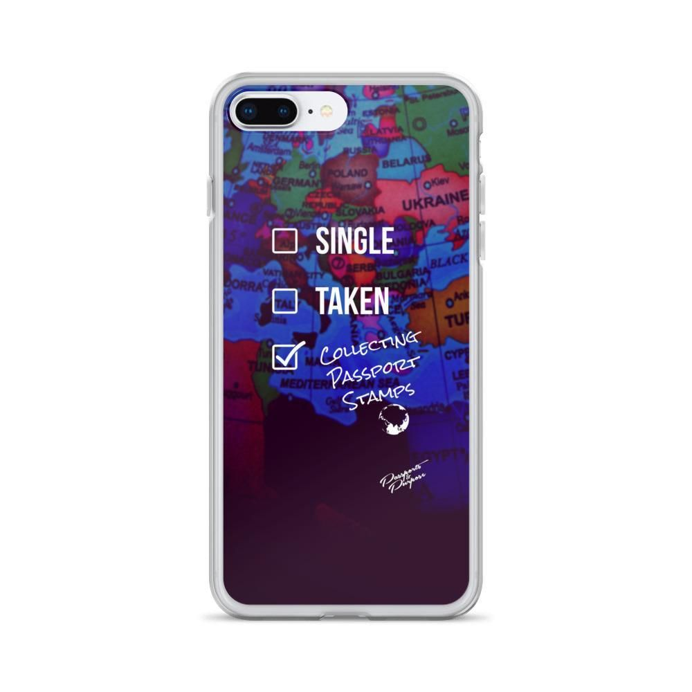 Single, Taken, Collecting Passport Stamps iPhone Case