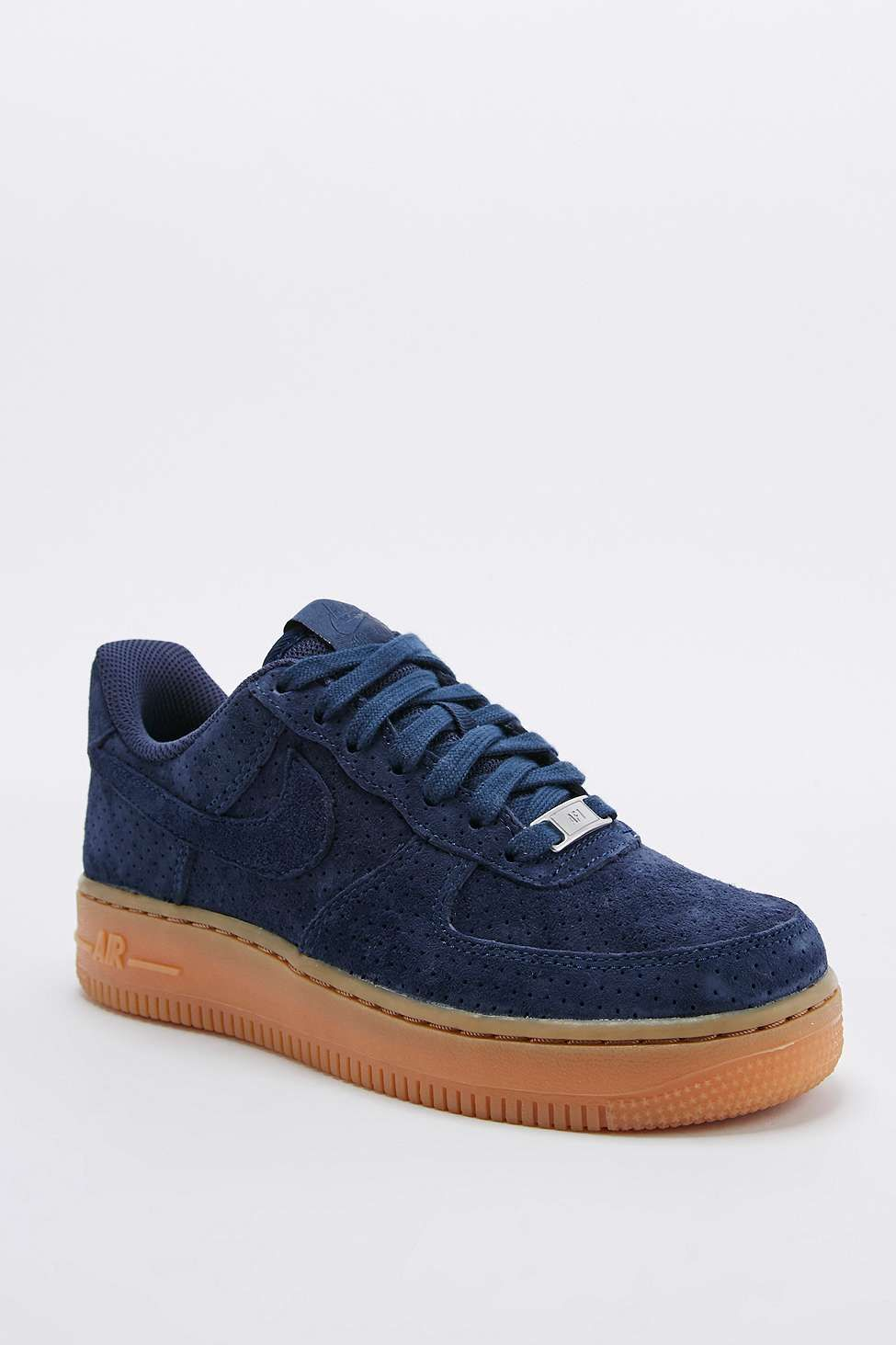 Nike - Baskets montantes Air Force 1 en daim bleu marine