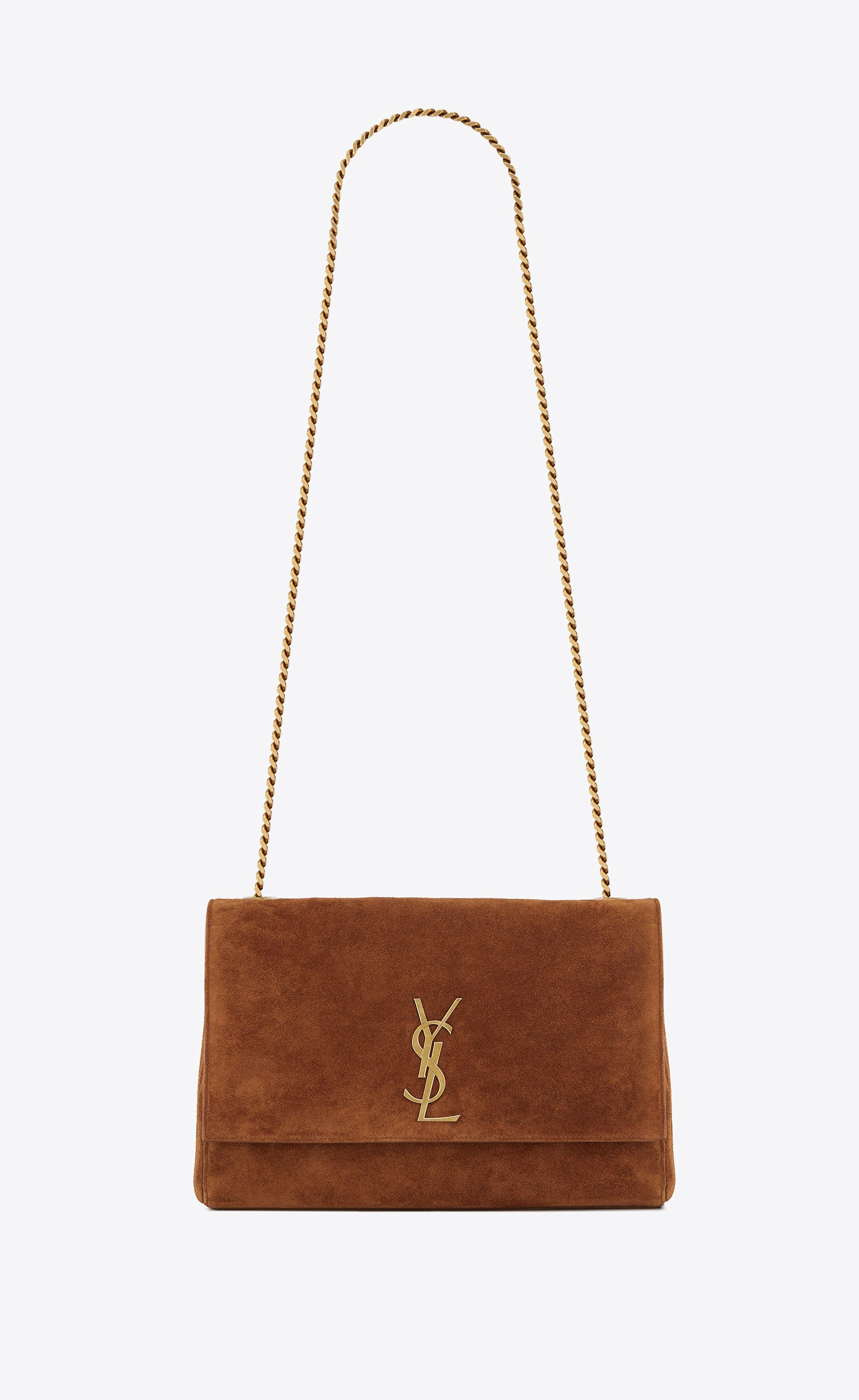 Saint Laurent Medium Reversible Kate In Suede And Smooth Leather ... 7250fbab98fce
