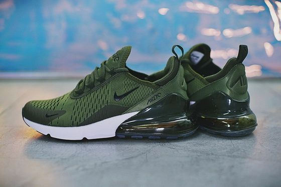 buy popular 6b82f 2d0cf 2018 Real New Style Nike Air Max 270 Mesh Running Sports Army Green Ah8050  300 Shoe