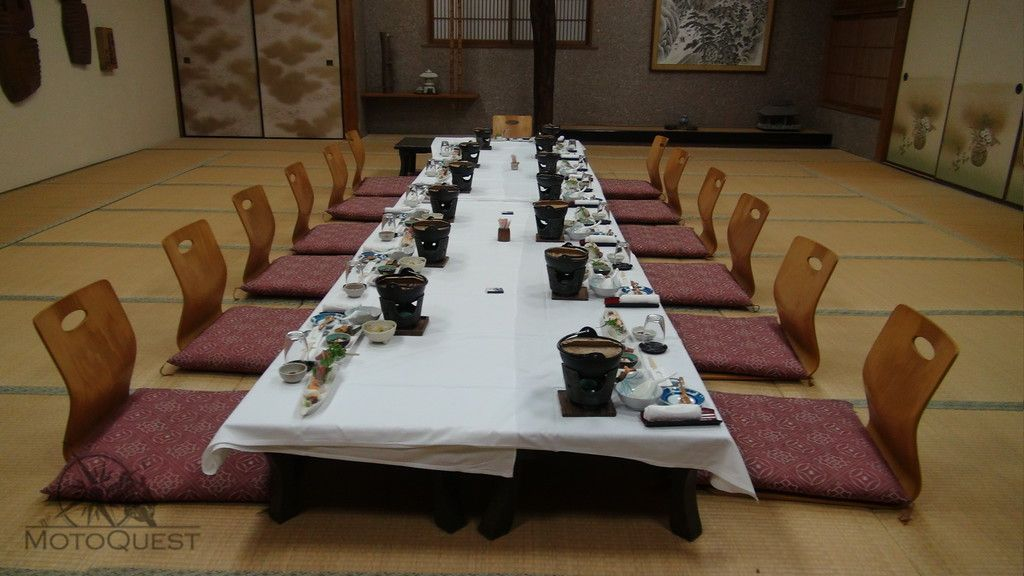 5-star affair dinner. Japan 3 Island Motorcycle Tour 2015: https://www.motoquest.com/guided-motorcycle-tour.php?japan-three-island-tour-20