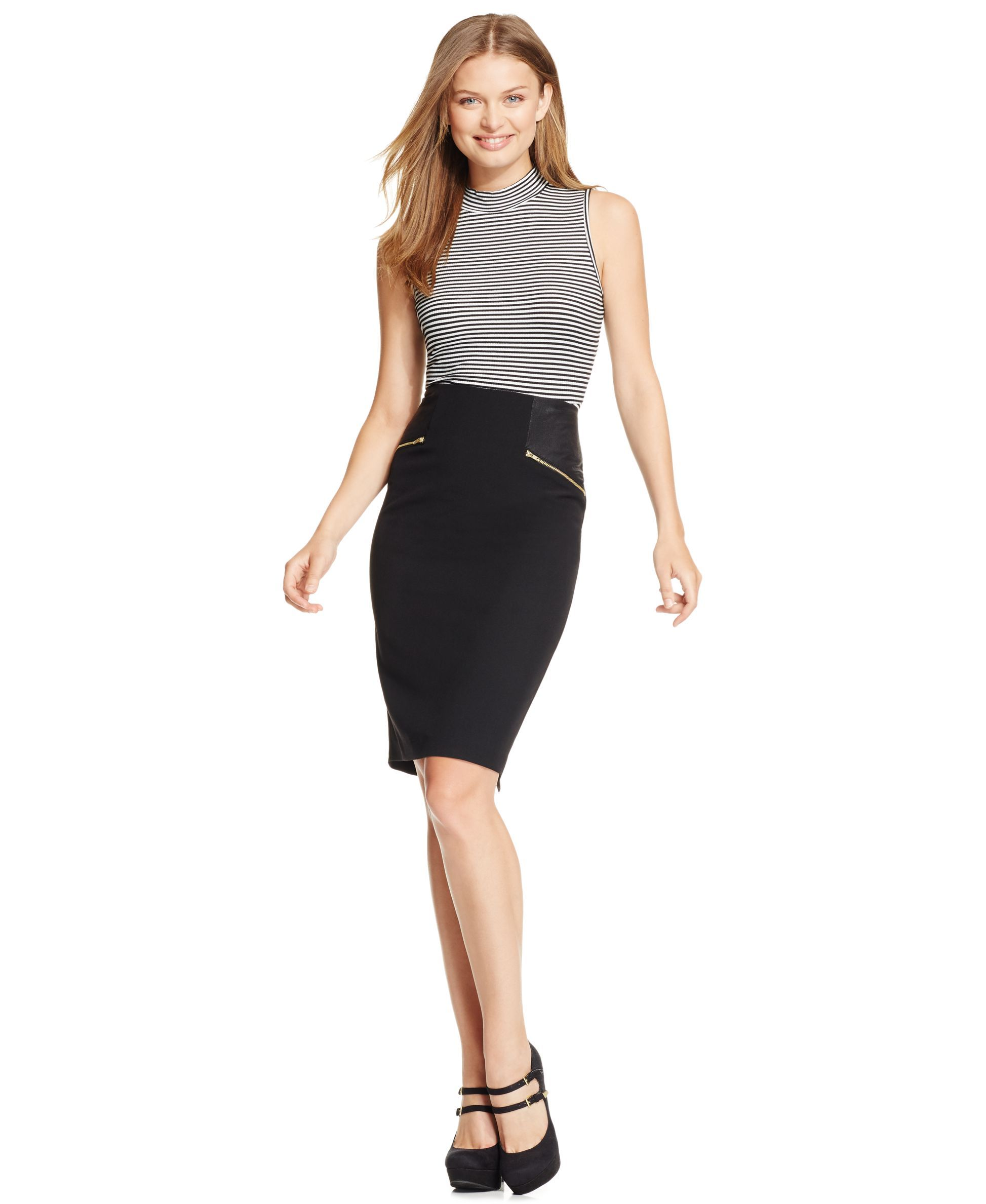 Bcx Juniors' Zipper-Pocket Pencil Skirt | Products | Pinterest ...