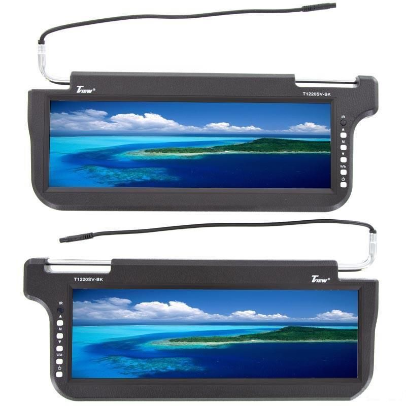 Tview T1220sv 12 2 Tft Lcd Replacement Sun Visor Car Monitor Lcd Monitor Monitor Lcd