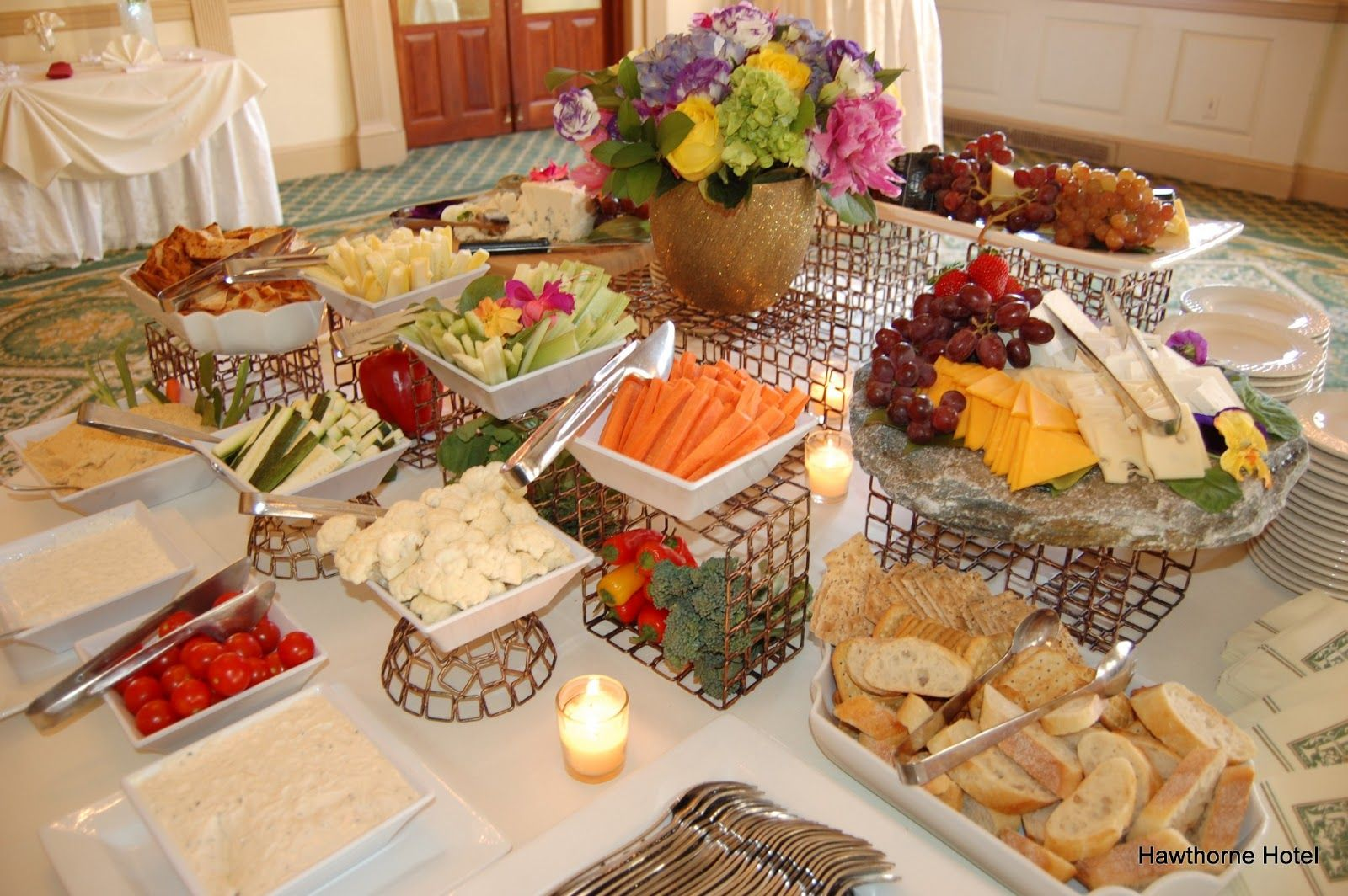 Appetizer only wedding reception weddings at the for Best food for wedding reception