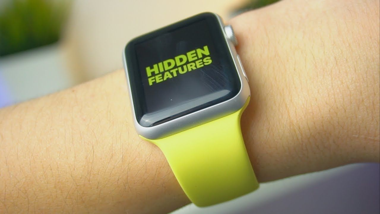 5 APPLE WATCH HIDDEN FEATURES (2018) Apple watch, Apple