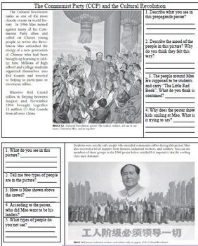 Revolutions In China Primary Source Analysis Worksheets
