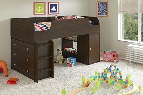 Cosco Industrial Grade Elements Loft Beds Drawer Dresser Toy Box Storage Cherry #CoscoIndustriesInc