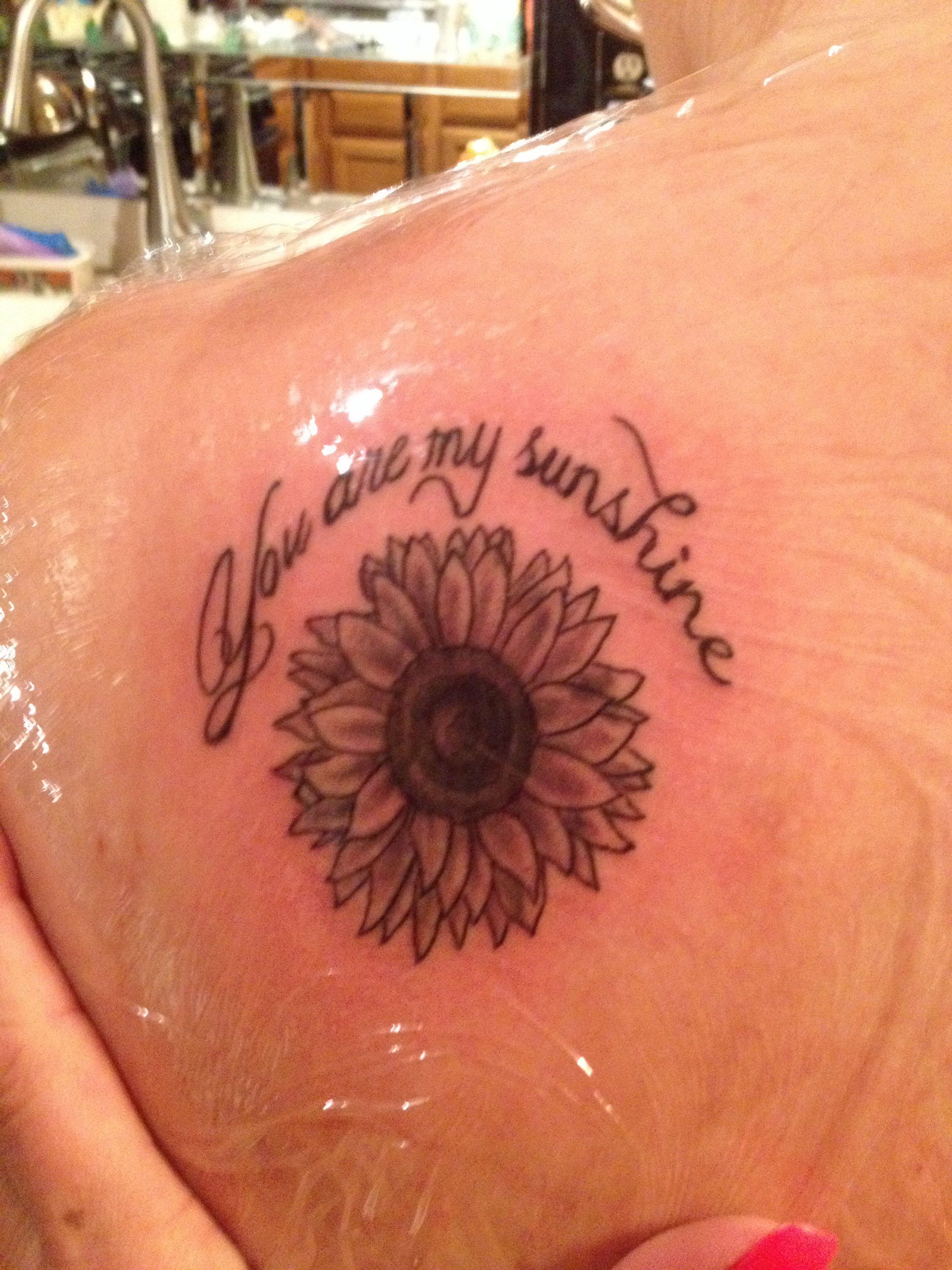 sunflower tattoo you are my sunshine tattoos pinterest sunflower tattoos sunflowers and. Black Bedroom Furniture Sets. Home Design Ideas