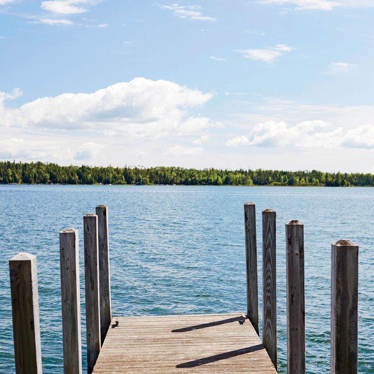 The Lake Landscape - Charming Michigan Lake Cottage Tour - Coastal Living