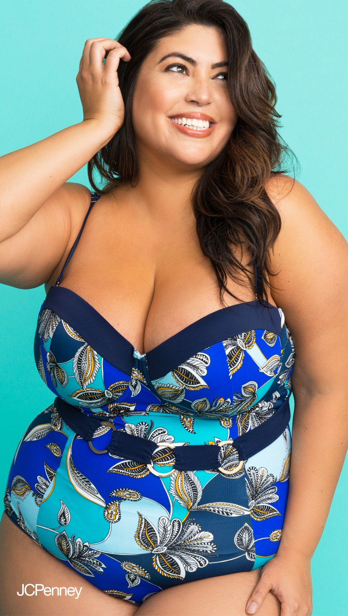 1793bde2332 Embroidery swimsuits or belted one piece swimsuits for your curvy bikini  body are sure to be your new favorite summer plus size swimsuits. Plus  swimwear ...