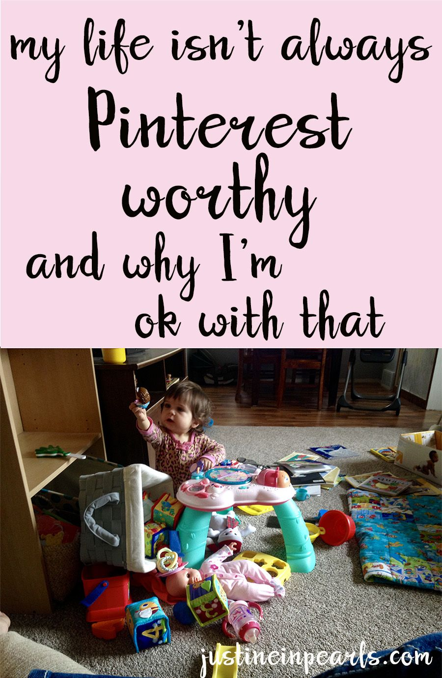 I LOVE beautiful blogs and I am WAY out of control with my Pinterest usage. I love the ideas and the DIY's and the outfits and the everything. But I need to remind myself constantly that what we see online isn't always the whole picture and my life is going to be different from said pictures. And that's ok.
