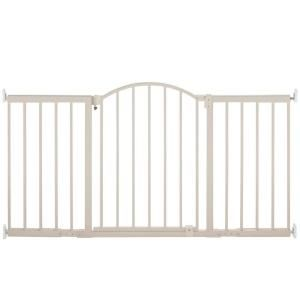 6 Ft Metal Expansion Gate Wide Walk 27284 At The Home Depot Mobile Baby Gates Wide Baby Gate Baby Safety Gate