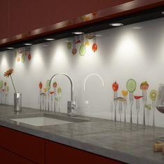 Küchenspiegel Aus Glas küchenrückwand aus glas gabeltanz 989704266 | wohnung | pinterest
