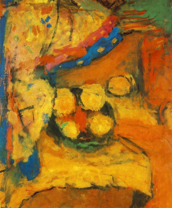 Still life in Yellow, 1960 Bela Czobel paintings